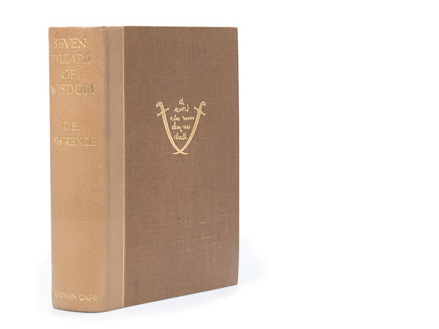 LAWRENCE, THOMAS EDWARD. 1888-1935. Seven Pillars of Wisdom. London: Jonathan Cape, [1935].