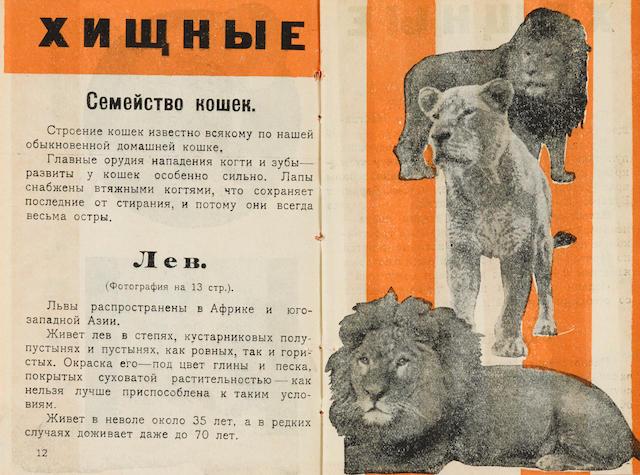 BULANOV, DMITRI, illustrator.  SOLOVIEV, M.M. Putevoditel po Leningradskomu zoologicheskomu sadu.   [Guide to the Leningrad Zoo.] Leningrad: 1928.