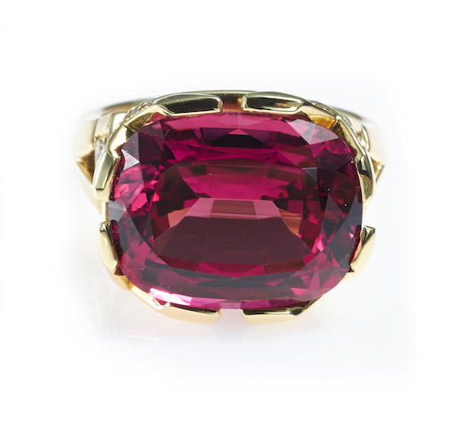 A rubellite tourmaline and diamond ring, Paloma Picasso, Tiffany & Co.