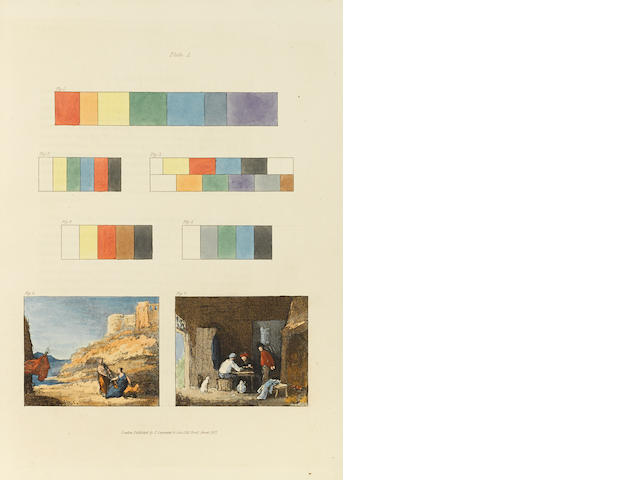 BURNET, JOHN. 1784-1868. Practical Hints on Colour in Painting. Illustrated by Examples from the Works of the Venetian, Flemish, and Dutch Schools. London: Carpenter and Son, 1827.