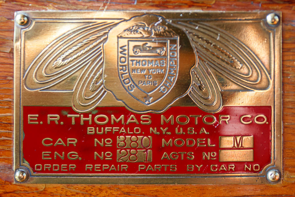 <i>Ex-Harrah's Auto Collection</i><br /><b>1910 Thomas Flyer Model 6-40 Touring  </b><br />Chassis no. 380 <br />Engine no. 281