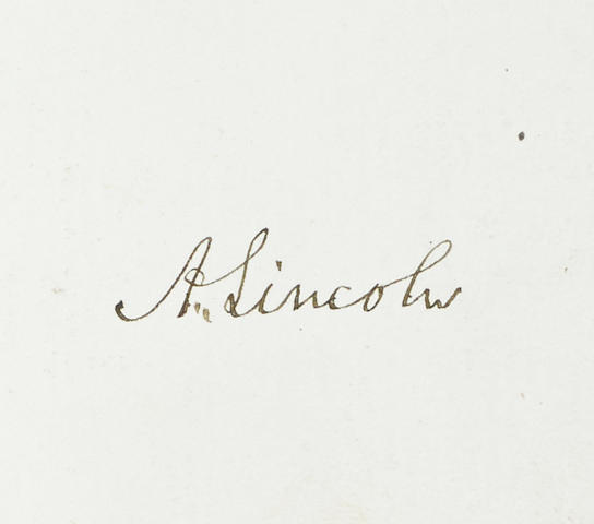 LINCOLN, ABRAHAM & ET AL. Autograph album featuring upward of 200 signatures of 19th century American political figures on approximately 120 pp,