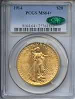 1914 $20 MS64+ PCGS