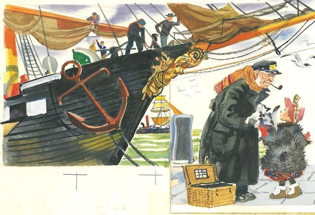 ROJANKOVSKY, FEODOR STEPANOVICH. 1891-1970. Ship's cat; and sailor cats,