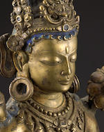 A copper alloy figure of Avalokiteshvara Central Tibet, circa 12th century