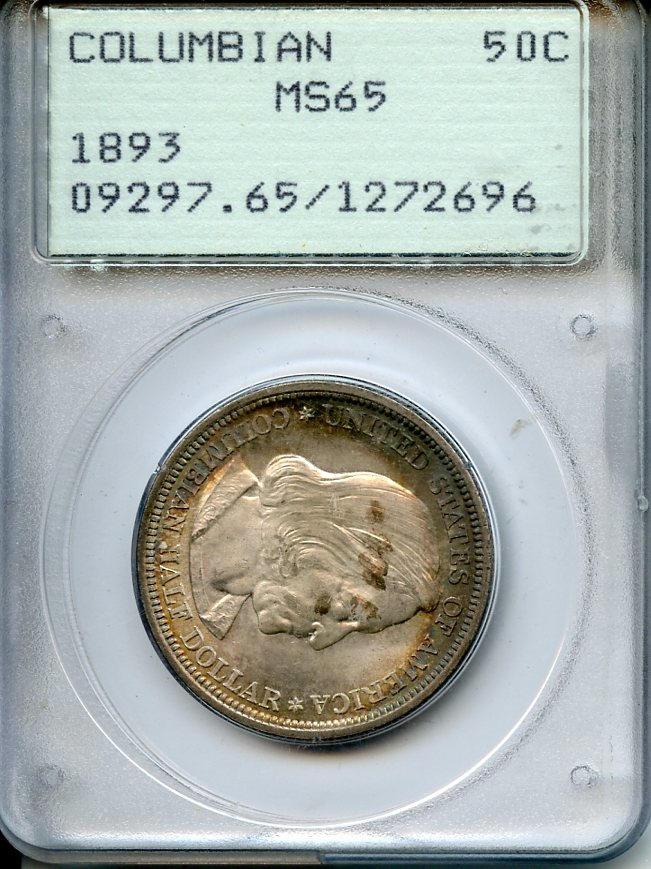 1893 Columbian Exposition 50C MS65 PCGS