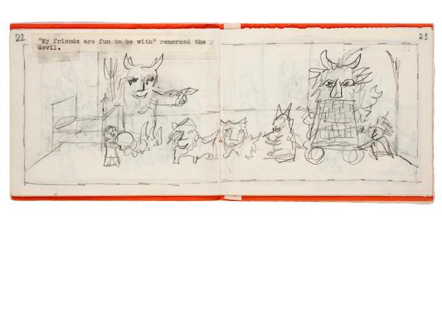 MONTRESOR, BENI. 1926-2001. 3 preliminary dummies for Bedtime!