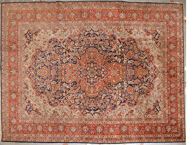 A Dabir Kashan carpet size approximately 8ft. 8in. x 11ft. 9in.