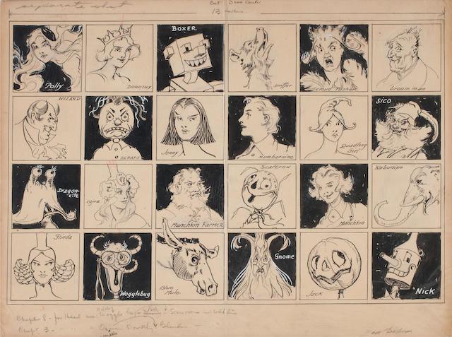 NEILL, JOHN REA.  1877-1943. Endpaper design for The Wonder City of Oz,