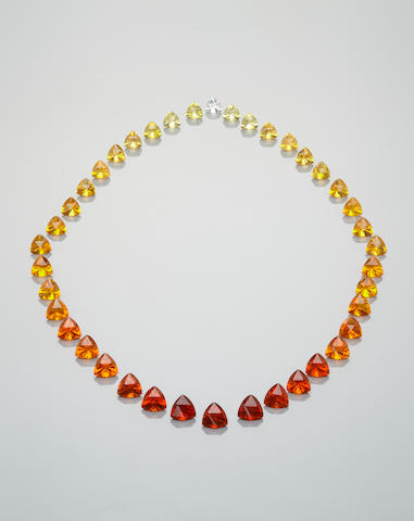 Magnificent Suite of Fire Opals