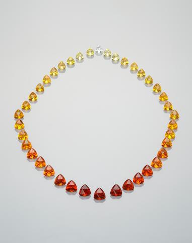 Magnificent Suite of Fire Opals