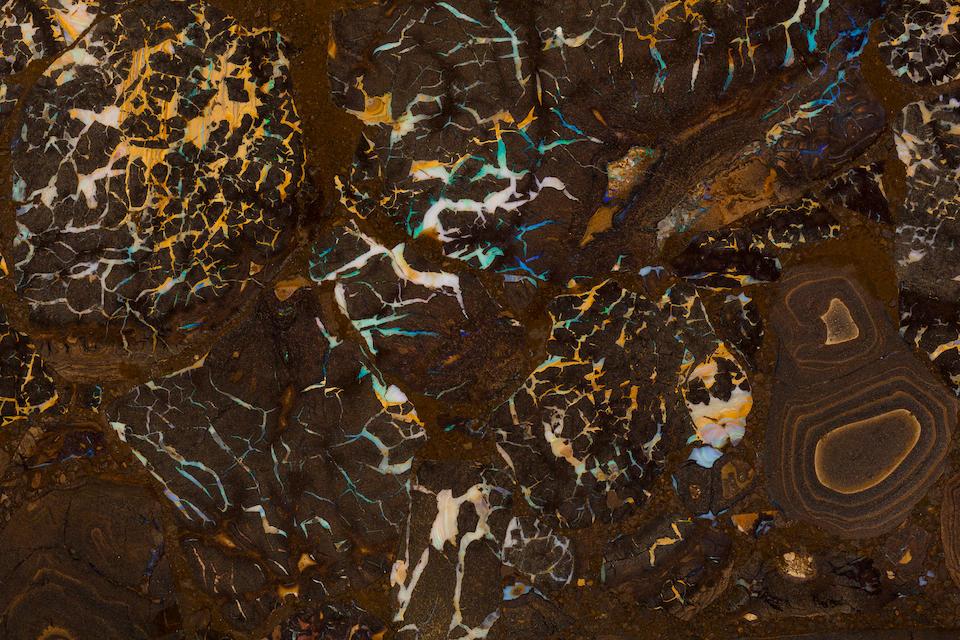 Unique Boulder Opal Intarsia Table