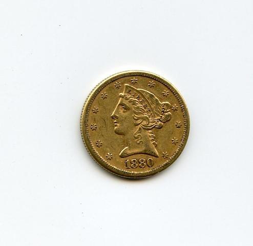 1880-S $5