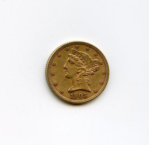 1905-S $5
