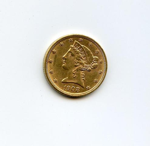 1908 Liberty $5