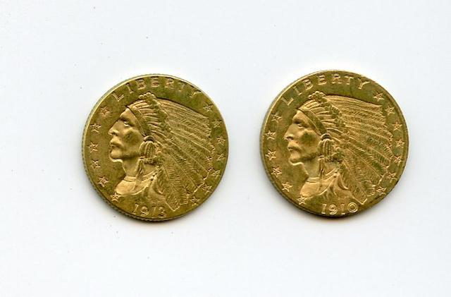 1910, 1913 $2.5