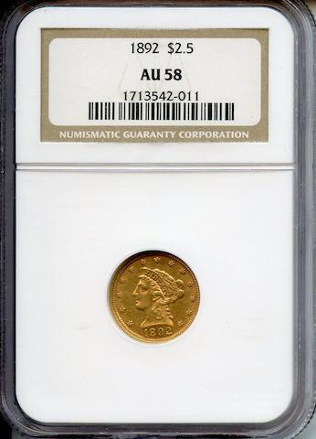 1892 $2.5 AU58 NGC