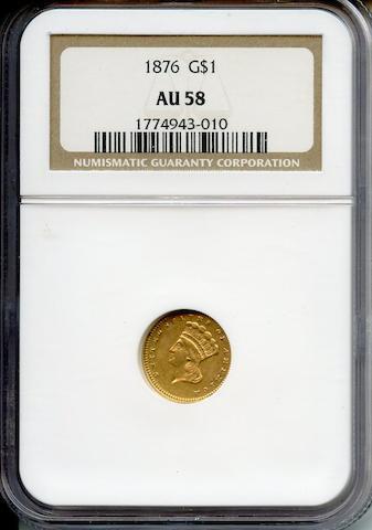 1876 G$1 AU58 NGC