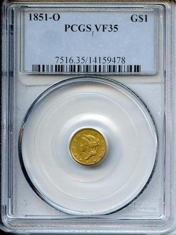 1851-O G$1 VF35 PCGS