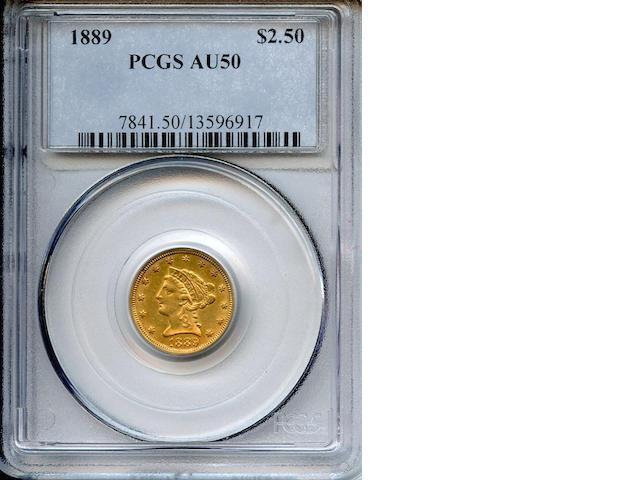 1889 $2.5 AU50 PCGS