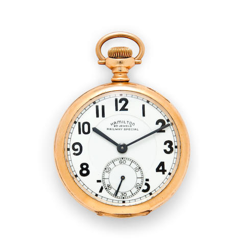 Hamilton. A fine gold filled railroad watchModel 950B, No.S8143, Railway Special