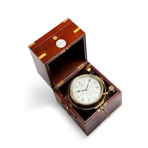 A mahogany eight – day marine chronometer Thomas Mercer, no. 1295, mid 20th century