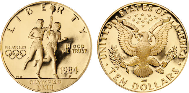 1984-P U.S. Olympic $10 Proof