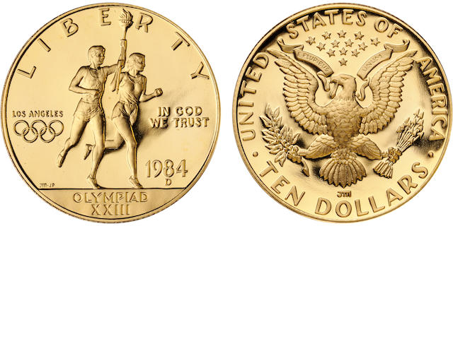 1984-D U.S. Olympic $10 Proof