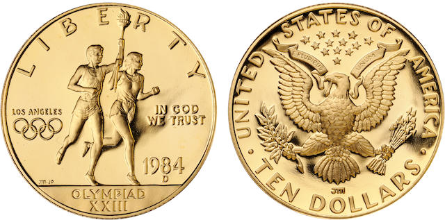 1984-D U.S. Olympic $10 Proof