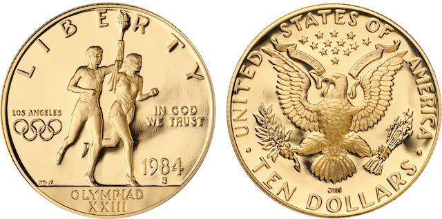 1984-S U.S. Olympic $10 Proof