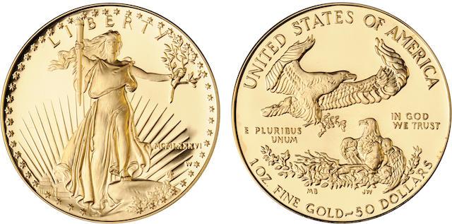 1986 $50 Gold Eagle Proof