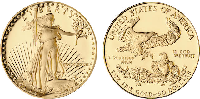 1987 $50 Gold Eagle Proof