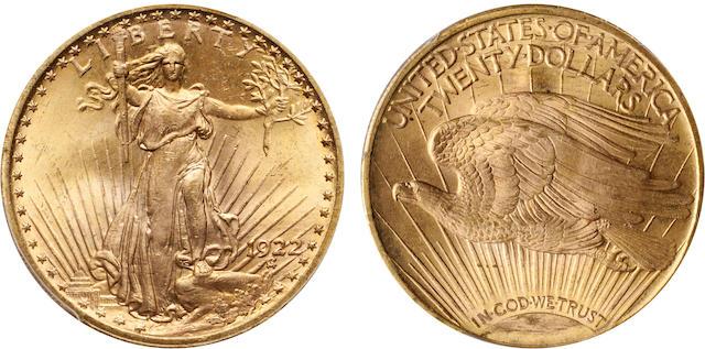 1922 $20 MS65 PCGS