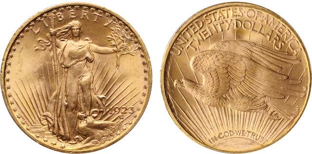 1923 $20 MS65 PCGS