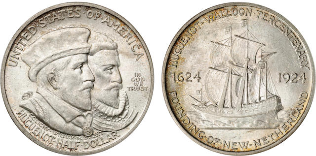 1924 Huguenot-Walloon Half Dollars (3)