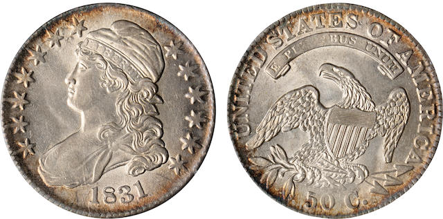 1831 50C AU58 PCGS