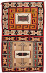 A Navajo Teec Nos Pos double saddle blanket