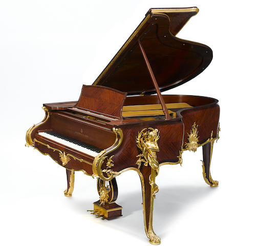 A Steinway six foot inlaid mahogany grand piano frame number 148489 circa 1910