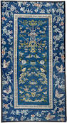 Six pairs of embroidered silk sleeve bands with flowers combined with birds or butterflies Late Qing/Republic period