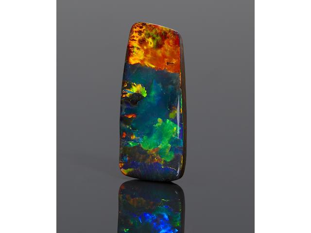 """Exceptionally Vivid Picture Boulder Opal--""""Coucher de soleil sur la mer"""""""