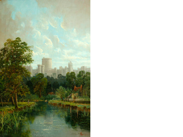 ** Allan (British, late 19th Century) A view of Windsor Castle 30 x 20in