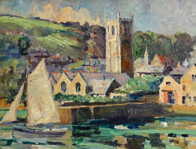 George Turland (American, 1877-1947) Village scenes (3) each 16 x 12in