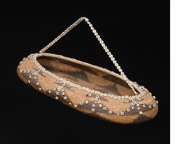 A Pomo oval gift basket