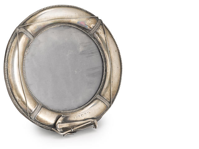 A sterling silver frame in the form of a life ringlate 19th or early 20th century 5-1/2 in. (13.9 cm.)