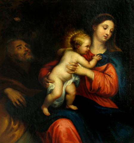 After Sir Anthony van Dyck The Holy Family 26 1/4 x 22 3/4in