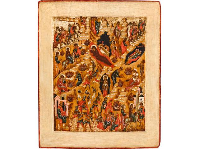 Icon of the Nativity of ChristRussia, Suzdal, 1675-1700