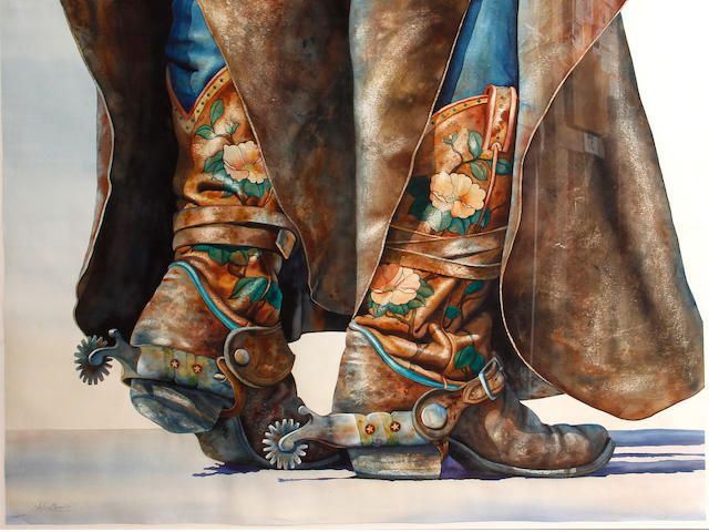 Nelson Boren (American, born 1952) Cowboy boots 43 x 58in