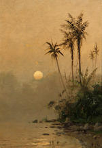 Frederick Ferdinand Schafer (German/American, 1839-1927) Tropical scenes (a pair) each 13 3/4 x 9 3/4in