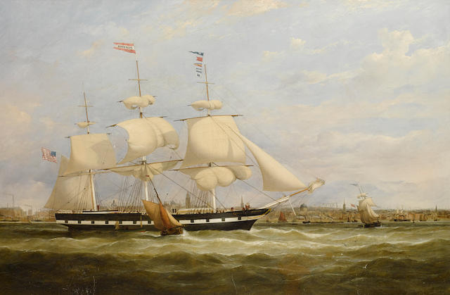 Samuel Walters (British, 1811-1882), circa 1840 The packet ship Fanchon of the Black Star Line, 24 x 36 in. (60.9 x 91.4 cm.)