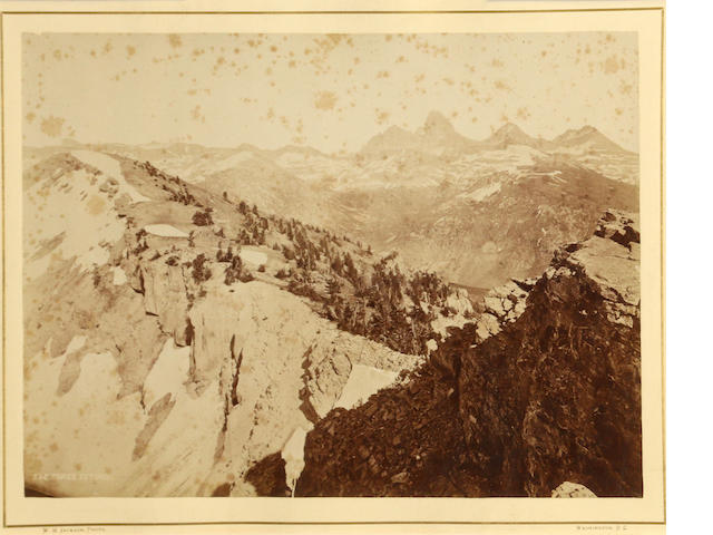 William Henry Jackson (American, 1843-1942); The Three Tetons, from USGS of the Territories;